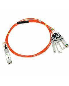 PlusOptic compatible AOCQSFP+-4-1M-PLU 1M QSFP+-4SFP AOC